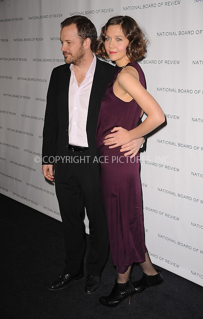 WWW.ACEPIXS.COM . . . . . ....January 12 2010, New York City....Actors Maggie Gyllenhaal and Peter Sarsgaard arriving at the National Board of Review of Motion Pictures Awards gala at Cipriani 42nd Street on January 12, 2010 in New York City.....Please byline: KRISTIN CALLAHAN - ACEPIXS.COM.. . . . . . ..Ace Pictures, Inc:  ..(212) 243-8787 or (646) 679 0430..e-mail: picturedesk@acepixs.com..web: http://www.acepixs.com