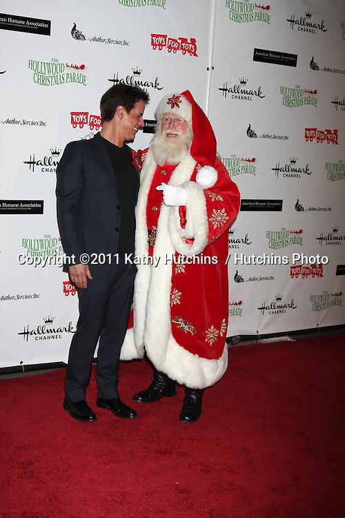 LOS ANGELES - NOV 27:  Christian LeBlanc arrives at the 2011 Hollywood Christmas Parade at Hollywood Boulevard at Sycamore on November 27, 2011 in Los Angeles, CA