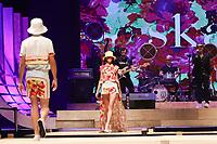 BELO HORIZONTE, MG, 09.04.2019- MINAS-TREND - Modelo durante desfile da grife Skazi,  na 24ª edição, do Minas Trend - primavera verão 2020, no Expominas, em Belo Horizonte (MG), nesta terça-feira, 09. (Foto: Doug Patricio/Brazil Photo Press/Folhapress)