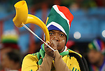 16 JUN 2010: South Africa fan with a kuduzela. The South Africa National Team lost 0-3 to the Uruguay National Team at Loftus Versfeld Stadium in Tshwane/Pretoria, South Africa in a 2010 FIFA World Cup Group A match.
