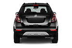 Straight rear view of 2018 Buick Encore Premium 5 Door SUV Rear View  stock images