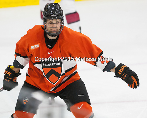 Tom Kroshus (Princeton - 4) - The Harvard University Crimson defeated the visiting Princeton University Tigers 5-0 on Harvard's senior night on Saturday, February 28, 2015, at Bright-Landry Hockey Center in Boston, Massachusetts.