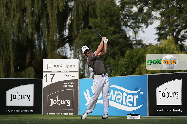 Rhys Enoch (WAL) drives from the 17th on the West Course during Round Two of the Joburg Open 2015 at the Royal Johannesburg & Kensington Golf Club, Johannesburg, Gauteng, South Africa. Picture:  David Lloyd / www.golffile.ie. 27/02/2015
