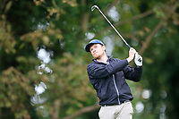 Colm O'Donoghue (Castletroy) during the final of the Irish Mid-Amateur Open Championship, Royal Belfast Golf CLub, Hollywood, Down, Ireland. 29/09/2019.<br /> Picture Fran Caffrey / Golffile.ie<br /> <br /> All photo usage must carry mandatory copyright credit (© Golffile   Fran Caffrey)