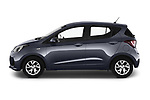 Car Driver side profile view of a 2019 Hyundai i10 Twist 5 Door Hatchback Side View