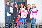 BABIES: Showing off their babies at the Kingdom County Fair,at ballybeggan Racecourse, Tralee on Sunday with the judges, L-r: Maurice gabriel Patrick and Ieva Breen (Tralee), Evelyn Murphy (Tralee)Ryan Fealy (Brosna), Bridget O'Connell (Tralee), Holly and Roseann Fealy (Brosna), Trish Cunningham (judge), Eileen and Aoife Spring (Castlemaine).