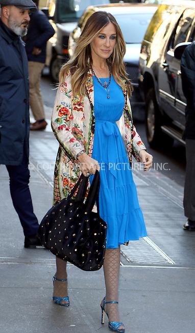www.acepixs.com<br /> <br /> November 28 2016, New York City<br /> <br /> Actress Sarah Jessica Parker made an appearance at The View on November 28 2016 in New York City<br /> <br /> By Line: Zelig Shaul/ACE Pictures<br /> <br /> <br /> ACE Pictures Inc<br /> Tel: 6467670430<br /> Email: info@acepixs.com<br /> www.acepixs.com