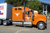 07 October 2006: The University of Texas team truck sits outside the Cotton Bowl at the State Fair of Texas before the Longhorns game against the University of Oklahoma Sooners at the Cotton Bowl in Dallas, TX.
