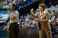 INDIANAPOLIS, IN - APRIL 3, 2011: Head Coach Tara VanDerveer during the NCAA Final Four against Texas A&M at Conseco Fieldhouse  in Indianapolis, IN on April 1, 2011.