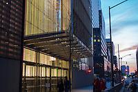 World Trade Center Exterior View at Dusk. 20 May 2015