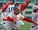 Masaaki Kosaka (), MARCH 31, 2016 - Baseball : Manager Masaaki Kosaka of Chiben Gakuen celebrates after winning the Japanese High School Baseball Invitational Tournament final match Takamatsu Commercial 1-2 Chiben Gakuen at Hanshin Koshien Stadium in Nishinomiya, Hyogo, Japan. (Photo by BFP/AFLO)