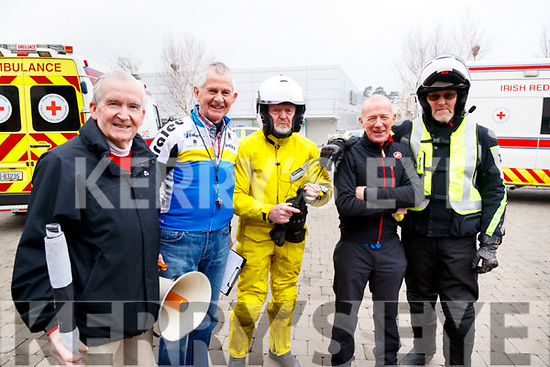 Jack Lacey, Michael O'Callaghan, Gerry Christie, Seamie Hoare and Pat Doherty at the Lacey Cup Cycle on Sunday morning last.
