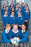 RAFFLE: Transition Year students at Mercy Mounthawk secondary school in Tralee who are holding a raffle in aid of the IRFU Charitable Trust. Front l-r: Sarah Walsh, Darragh Creagh and Naomi Reidy. Standing at back are Aisling O'Connor, Aislinn Muckian, Chloe Moriarty, Caoimhe Marley, Celine Kissane, Emma Moriarty, Jennifer Locke, Rebecca Bulman, Orla McCarthy, Marianna Costello, Katie Healy, Deirdre Lawlor, Ger McCarthy, Barry Galvin, Sophia Shanahan and Margot O'Carroll.   Copyright Kerry's Eye 2008