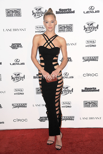 WWW.ACEPIXS.COM<br /> February 16, 2016 New York City<br /> <br /> Hannah Ferguson attending the 2016 Sports Illustrated Swimsuit Launch Celebration at Brookfield Place on February 16, 2016 in New York City.<br /> <br /> Credit: Kristin Callahan/ACE Pictures<br /> Tel: (646) 769 0430<br /> e-mail: info@acepixs.com<br /> web: http://www.acepixs.com