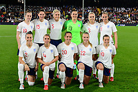 England Women starting 11 pre match team photo during the Women's International friendly match between England Women and Australia at Ashton Gate, Bristol, England on 9 October 2018. Photo by Bradley Collyer / PRiME Media Images.