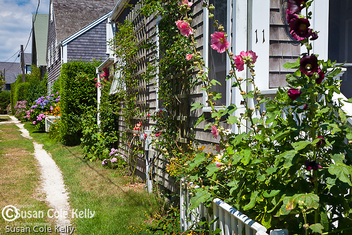 Front Street in Siasconset (Sconset), Nantucket, MA, USA