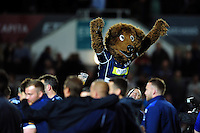 The Bristol Rugby mascot celebrates after the match. Greene King IPA Championship Play-off Final (second leg), between Bristol Rugby and Doncaster Knights on May 25, 2016 at Ashton Gate Stadium in Bristol, England. Photo by: Patrick Khachfe / JMP