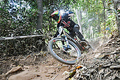 8th September 2017, Smithfield Forest, Cairns, Australia; UCI Mountain Bike World Championships; Luca Shaw (USA) riding for Santa Cruz Syndicate  during the downhill official timed session;