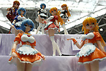 """May 3, 2010 - Tokyo, Japan - PVC Figurines are on display during the Treasure Festa 2010 at Tokyo Big Sight, Japan, on May 4, 2010. Some visitors and hobbyists concentrate specifically on a certain type of figure, such as garage kits, gashapon, or PVC bishojo (pretty girl) statues. According to many who study the phenomenon, many 'figure moe zoku', a Japanese term which refers to """"Otaku who collect figurines"""", have difficulty in navigating modern romantic life and prefer to go on """"dates"""" with their favorite figurine during off hours."""