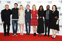 "producer, Nick McCallum, Jack Davenport, Laura Carmichael, Tom Felton, Rosamund Pike, director, Amma Asante, David Oyelowo and Jessica Oyelowo<br /> at the London Film Festival photocall for the opening film, ""A United Kingdom"", Mayfair HotelLondon.<br /> <br /> <br /> ©Ash Knotek  D3159  05/10/2016"