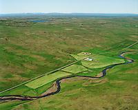Neðri-Núpur séð til norðvesturs, Húnaþing vestra áður Fremri-Torfustaðahreppur / Nedri-Nupur viewing northwest, Hunathing vestra former Fremri-Torfustadahreppur.