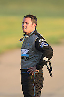 May 18, 2012; Topeka, KS, USA: NHRA top alcohol funny car driver Shane Westerfield during qualifying for the Summer Nationals at Heartland Park Topeka. Mandatory Credit: Mark J. Rebilas-