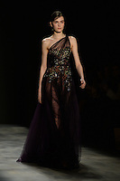 www.acepixs.com<br /> February 17, 2017 New York City<br /> <br /> Model on runway at Marchesa Fashion Show NYFW on February 17, 2017 in New York City.<br /> <br /> Credit: Kristin Callahan/ACE Pictures<br /> <br /> <br /> Tel: 646 769 0430<br /> e-mail: info@acepixs.com