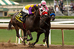 ARCADIA, CA  JUNE 16: #6 Ollie's Candy, ridden by Kent Desormeaux, and #1 Thirteen Squared ridden by Tyler Baze, in the stretch of the Summertime Oaks (Grade ll) on June 16, 2018 at Santa Anita Park in Arcadia, CA.  . (Photo by Casey Phillips/Eclipse Sportswire/Getty Images)