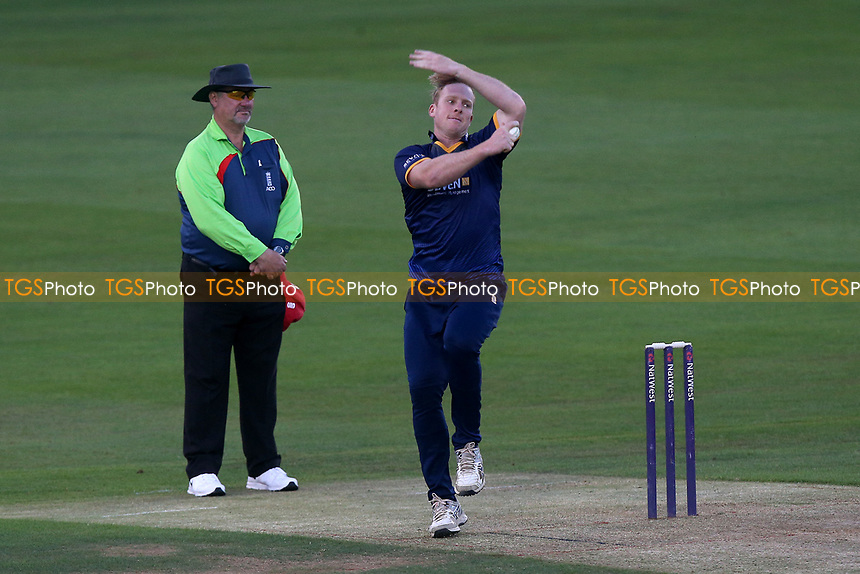 Simon Harmer in bowling action for Essex during Essex Eagles vs Premier Leagues XI, T20 Friendly Match Cricket at The Cloudfm County Ground on 4th July 2017