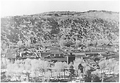 View of downtown Dolores looking north.<br /> Dolores, CO  ca 1930