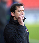 Dundee United v St Johnstone.....21.02.15<br /> Jackie McNamara<br /> Picture by Graeme Hart.<br /> Copyright Perthshire Picture Agency<br /> Tel: 01738 623350  Mobile: 07990 594431