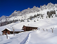 Oesterreich, Salzburger Land, bei Muehlbach: Winter am Hochkoenig (2.941 m) | Austria, Salzburger Land, near Muehlbach: Winter at Hochkoenig mountain range