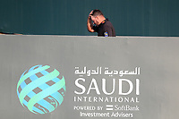 Graeme McDowell (NIR) walking to collect the winners trophy after the final round of  the Saudi International powered by Softbank Investment Advisers, Royal Greens G&CC, King Abdullah Economic City,  Saudi Arabia. 02/02/2020<br /> Picture: Golffile | Fran Caffrey<br /> <br /> <br /> All photo usage must carry mandatory copyright credit (© Golffile | Fran Caffrey)