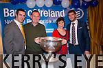 Pat O'Hanlon and Nora Mary O'Hanlon from Mountcoal with Shane Enright, Killian Young and Sam   at the Bank of Ireland Agri Seminar at Ballygarry House Hotel on Thursday