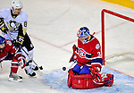 3 February 2009: Pittsburgh Penguins' right wing forward Miroslav Satan (81) from Slovakia is unable to score on Montreal Canadiens' goaltender Carey Price at the Bell Centre in Montreal, Quebec, Canada. The Canadiens defeated the Penguins 4-2. ***** Editorial Sales Only ***** Mandatory Photo Credit: Ed Wolfstein Photo