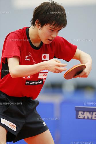 Masataka Morizono (JPN), APRIL 22, 2015 - Table Tennis : Japan national team training session for 2015 World Table Tennis Championships in Tokyo at Ajinomoto National Training Center, Tokyo, Japan. (Photo by Yusuke NakanishiAFLO SPORT)