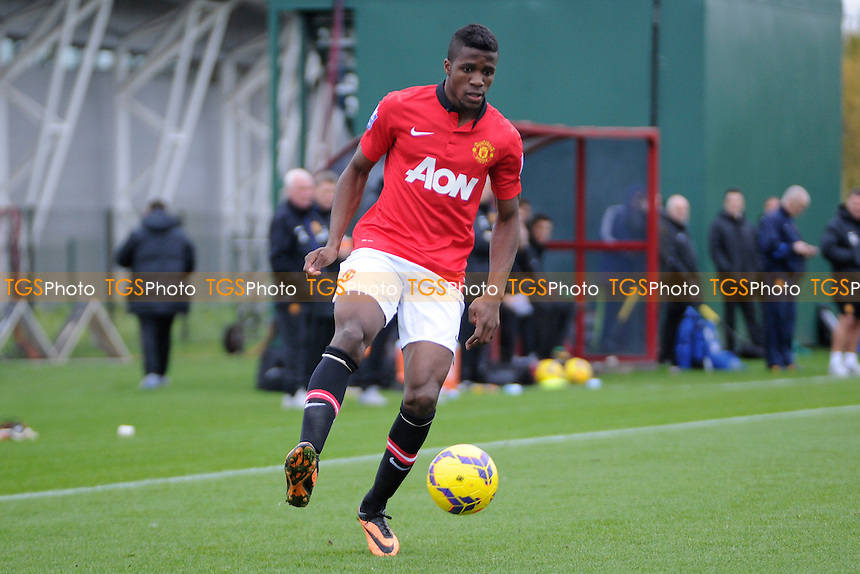 Wilfried Zaha of Manchester United - Manchester United Under-21 vs Stoke City Under-21 - Barclays Under-21 Premier League Football at the Aon Training Complex - 08/11/13 - MANDATORY CREDIT: Greig Bertram/TGSPHOTO - Self billing applies where appropriate - 0845 094 6026 - contact@tgsphoto.co.uk - NO UNPAID USE