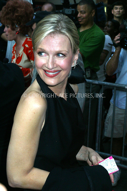 """Opening night for Broadway's newest and hottest show, """"Hairspray"""" at Neil Simon Theatre. New York, August 15, 2002. Pictured is DIANE SAWYER. Please byline: Alecsey Boldeskul/NY Photo Press.   ..*PAY-PER-USE*      ....NY Photo Press:  ..phone (646) 267-6913;   ..e-mail: info@nyphotopress.com"""