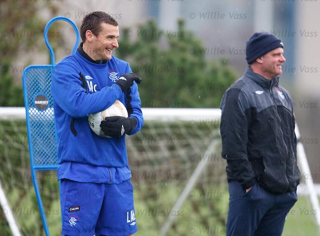 Lee McCulloch having a chuckle