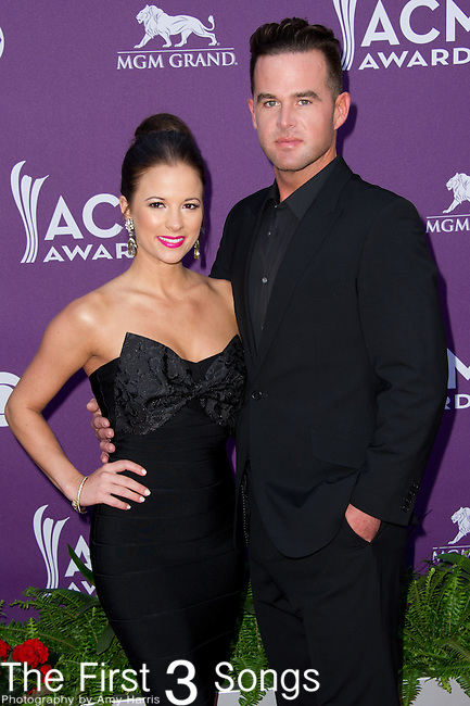 David Nail (R) and Catherine Werne attend the 48th Annual Academy of Country Music Awards in Las Vegas, Nevada on April 7, 2012.