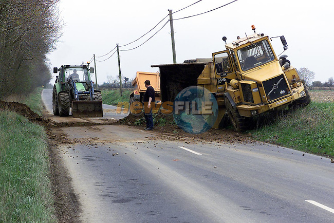 Accident on the termonfeckin road on Saturday morning last.Pic: Newsfile..