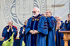 May 21, 2017; University of Notre Dame President Rev. John I. Jenkins, C.S.C. places the Laetare Medal on Rev. Gregory J. Boyle, S.J., founder and executive director of Homeboy Industries in Los Angeles, California, during Commencement 2017. (Photo by Matt Cashore/University of Notre Dame)
