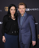 06 January 2018 - Beverly Hills, California - Giada Colagrande and Willem Dafoe. 2018 BAFTA Tea Party held at The Four Seasons Los Angeles at Beverly Hills in Beverly Hills.    <br /> CAP/ADM/BT<br /> &copy;BT/ADM/Capital Pictures
