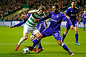5th December 2017; Glasgow, Scotland;  Ivan Obradovic defender of RSC Anderlecht tackles James Forrest midfielder of Celtic FC  during the Champions League Group B match between Celtic FC and Rsc Anderlecht