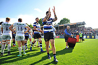 Matt Banahan of Bath Rugby celebrates the win. Aviva Premiership match, between Bath Rugby and Saracens on September 9, 2017 at the Recreation Ground in Bath, England. Photo by: Patrick Khachfe / Onside Images