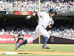 Ichiro Suzuki (Yankees),<br /> JUNE 5, 2014 - MLB :<br /> Ichiro Suzuki of the New York Yankees rounds third base during the Major League Baseball game against the Oakland Athletics at Yankee Stadium in Bronx, New York, United States. (Photo by AFLO)