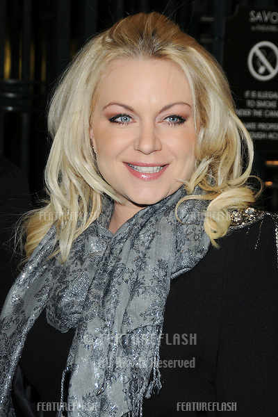 Rita Simons arriving for the  Legally Blonde: The Musical Gala Night at the Savoy Theatre, London.  14/01/2010  Picture by: Steve / Featureflash