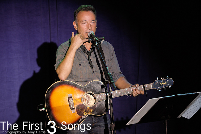 Singer-songwriter Bruce Springsteen performs at a campaign event for President Barack Obama in Parma, Ohio.