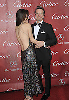 Gary Oldman &amp; wife Alexandra Edenborough at the 2014 Palm Springs International Film Festival Awards gala at the Palm Springs Convention Centre.<br /> January 4, 2014  Palm Springs, CA<br /> Picture: Paul Smith / Featureflash