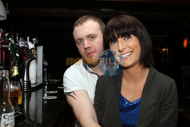 Ged Halpin and Ellen Dillane at the ACDC Tribute Gig in Darby O'Gills...(Photo Jenny Matthews/www.newsfile.ie)